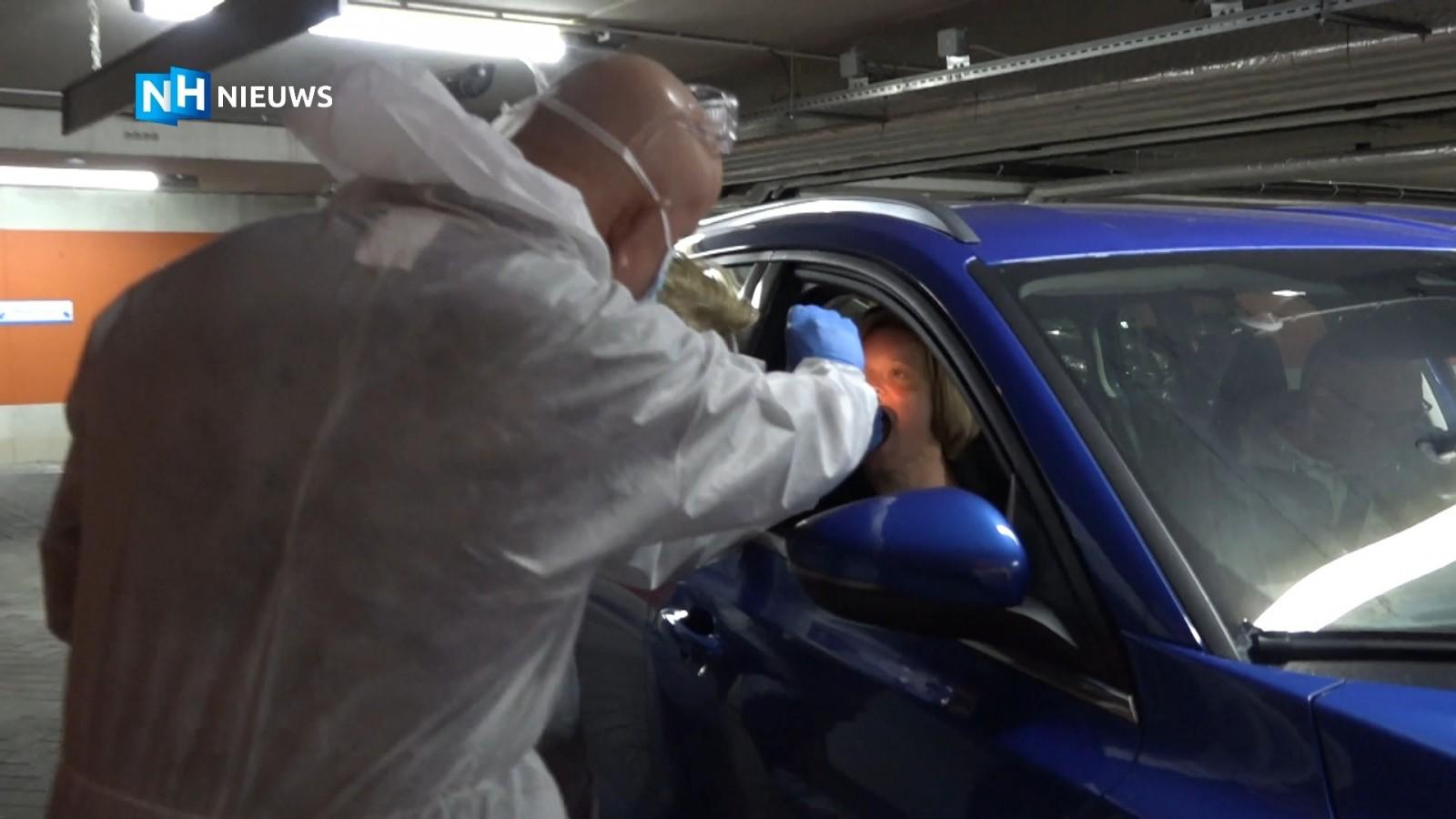 'Corona drive-thru' in Bussums parkeergarage voor zorgmedewerkers
