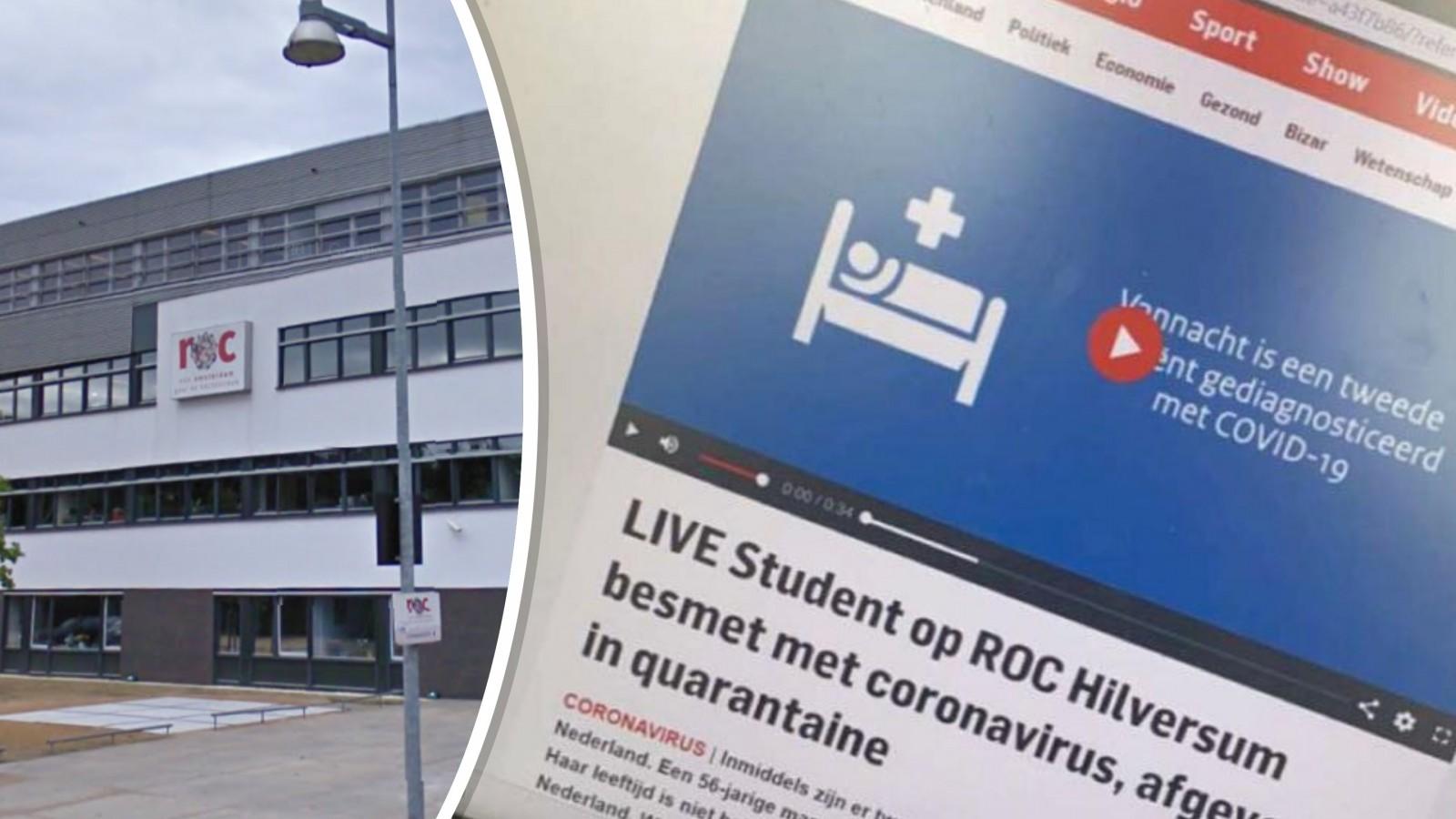 """Nep-bericht over corona op Hilversumse school: """"Hele klus om studenten te vertellen dat het nep is"""""""