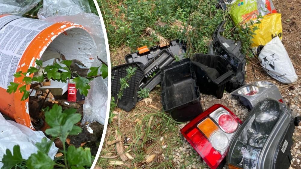 Van lege verfblikken tot grofvuil: dagelijks worden bergen met afval gedumpt in de Gooise natuur