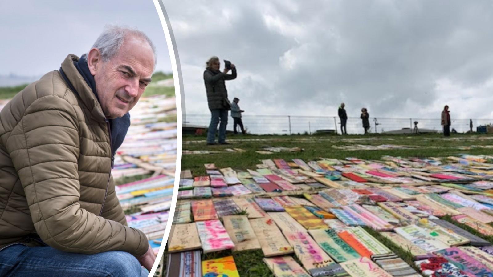 Stratenmonument op Pampus herdenkt 2.800 joodse slachtoffers uit Oosterparkbuurt