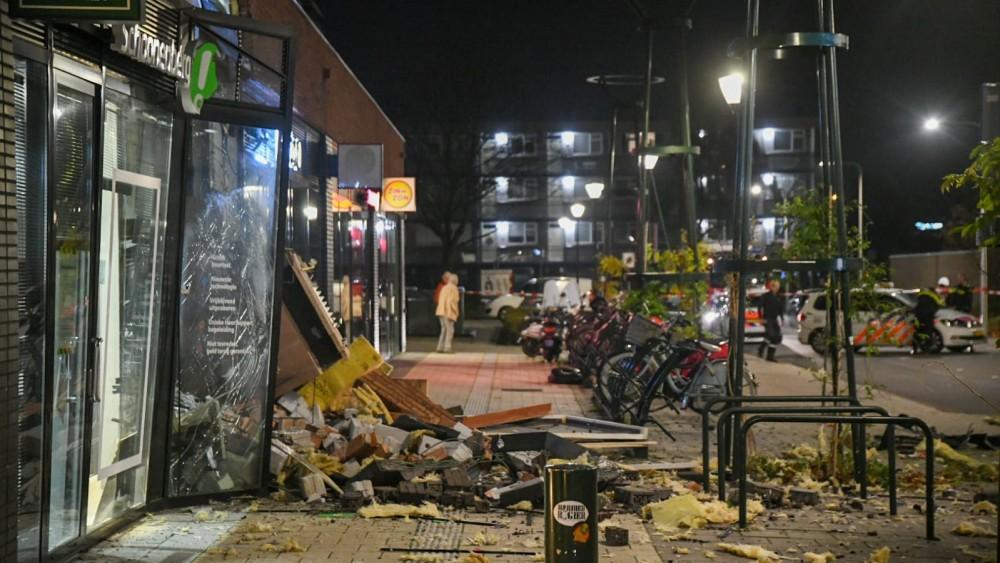 Ravage na plofkraak bij geldautomaat in Hilversum