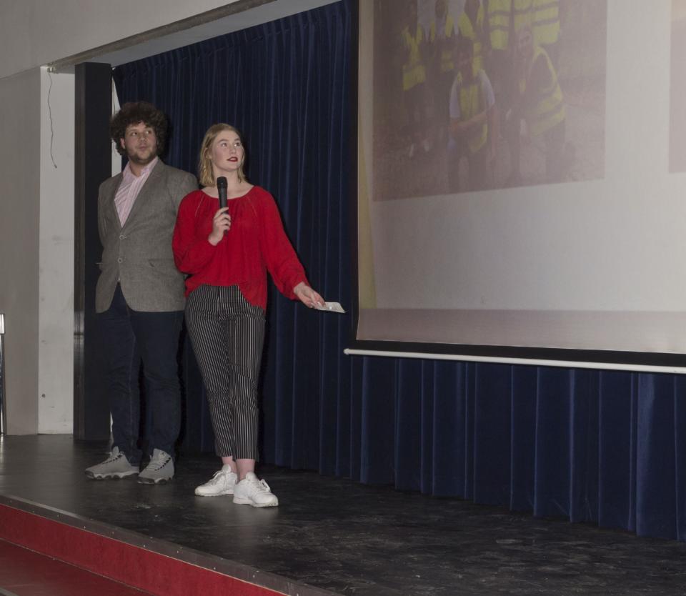 De presentatie van Ramiro en Sanne
