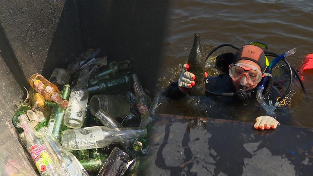 """Duikers vissen Loosdrechtse Plassen leeg: """"Honderden flessen opgevist"""""""