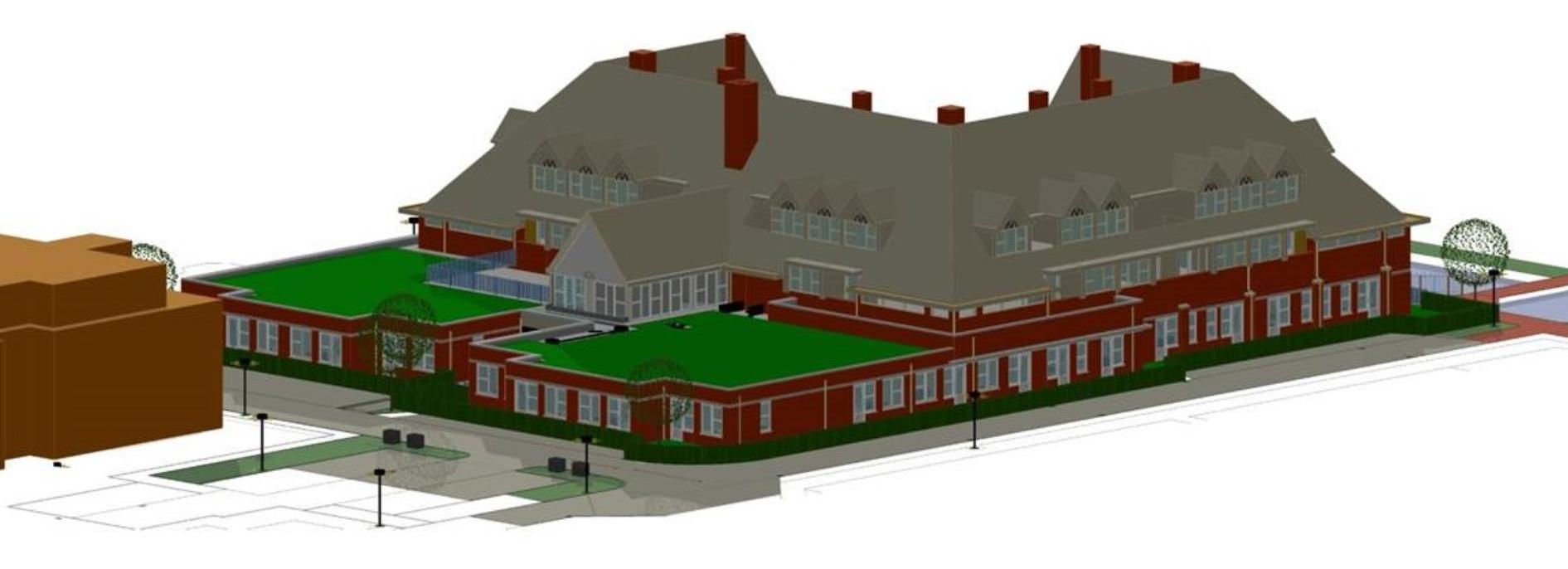 Een impressie van het woonzorgcomplex