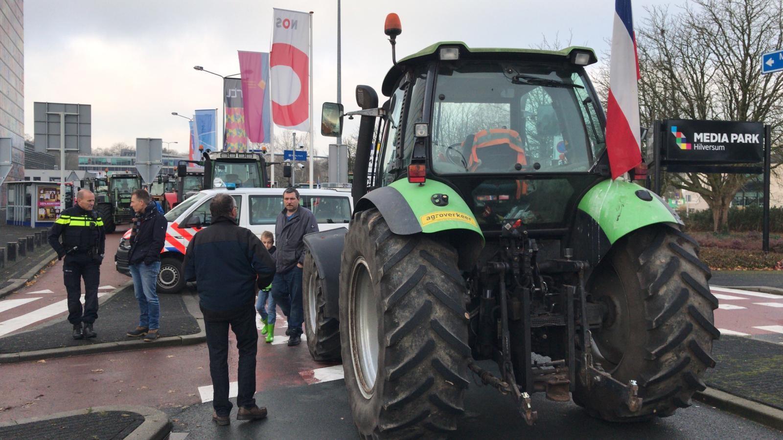 """Boze boeren na protest op Mediapark: """"We pikken het niet meer"""""""