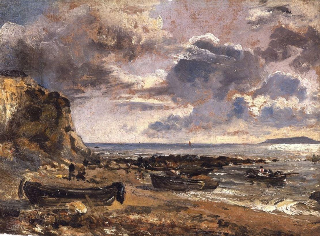 Het strand bij Osmington Mills (Foto:aangeleverd door Kunst uit Zeist)