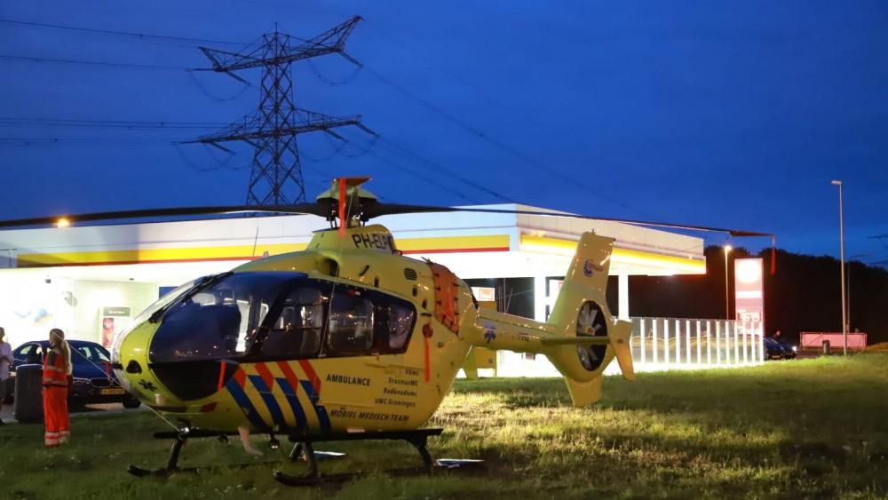 Traumahelikopter met technische problemen gestrand langs de A1