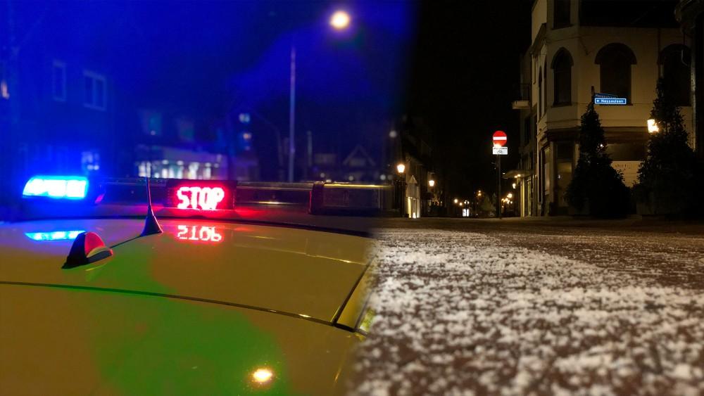 Gooi grotendeels muisstil door avondklok, veel politie op straat in Hilversum