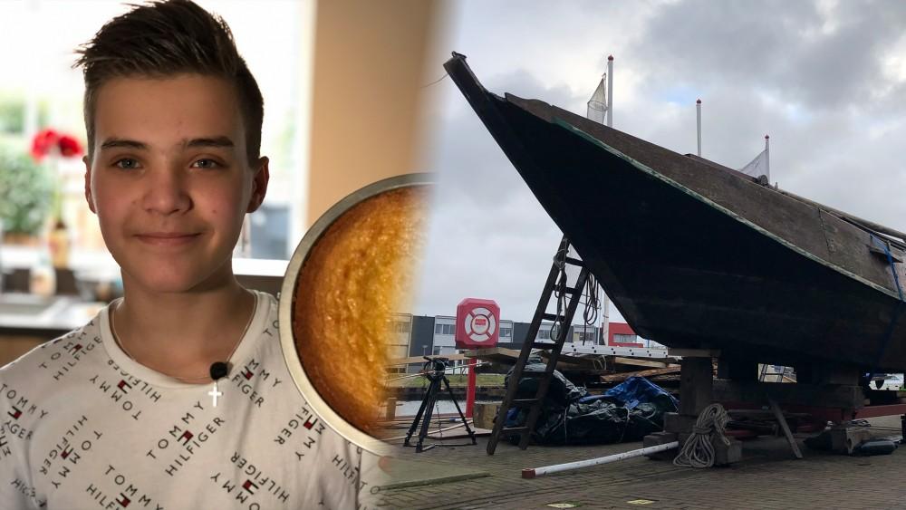 """Jasper (13) bakt zich suf om verroeste boot op te knappen: """"Maken we wat moois van"""""""