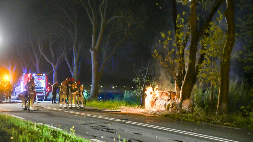 Automobilist overleden na eenzijdig ongeval op provinciale weg