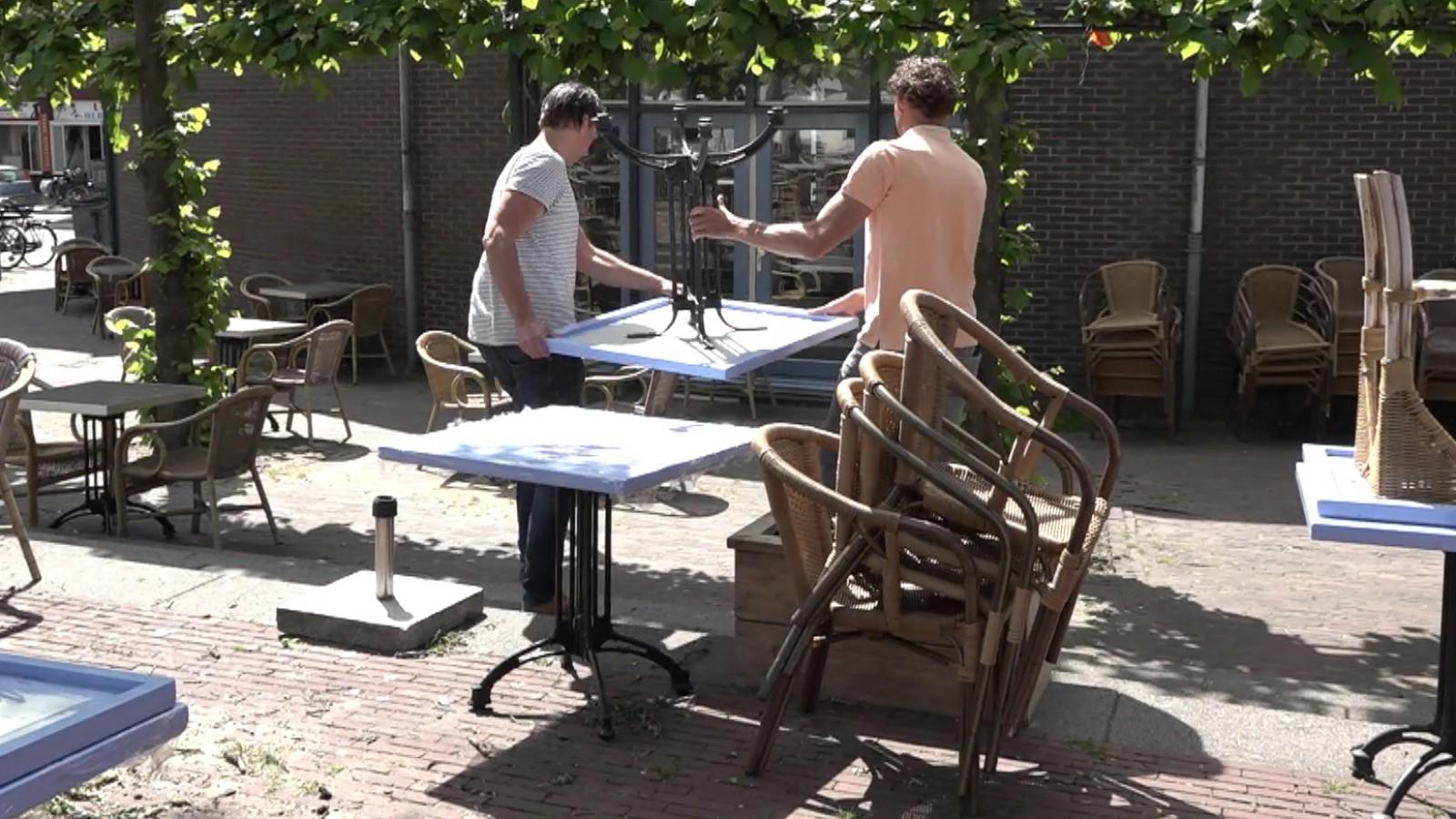 Hilversumse horeca-ondernemers  klaar voor heropening met gezamenlijk terras