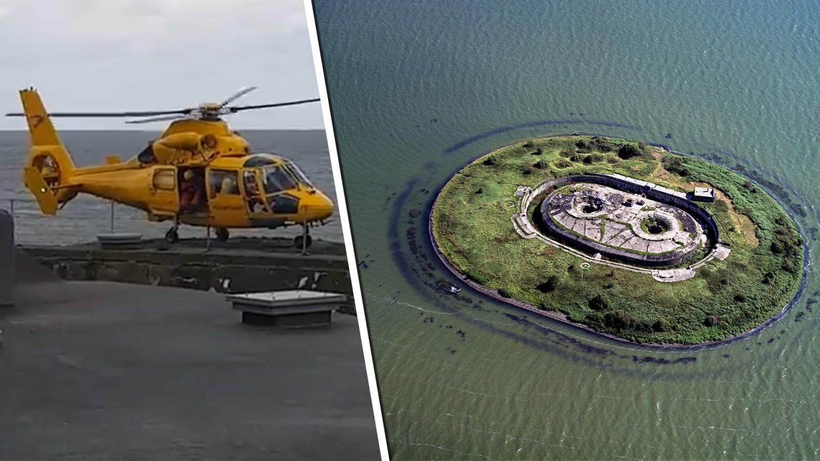 Kanoër slaat om bij forteiland Pampus: met heli naar ziekenhuis in Alkmaar gebracht