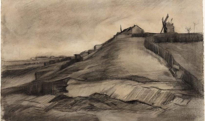 De heuvel van Montmartre met steengroeve van Vincent van Gogh. (Foto: Van Gogh Museum)