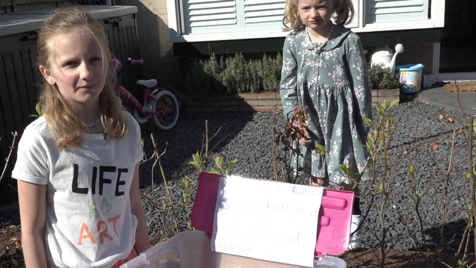 """Naardense Emma (8) krijgt hele buurt aan het tekenen: """"Driehonderd tekeningen voor ouderen"""""""