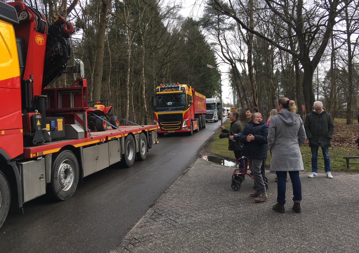 79 vrachtwagens trokken door onze regio