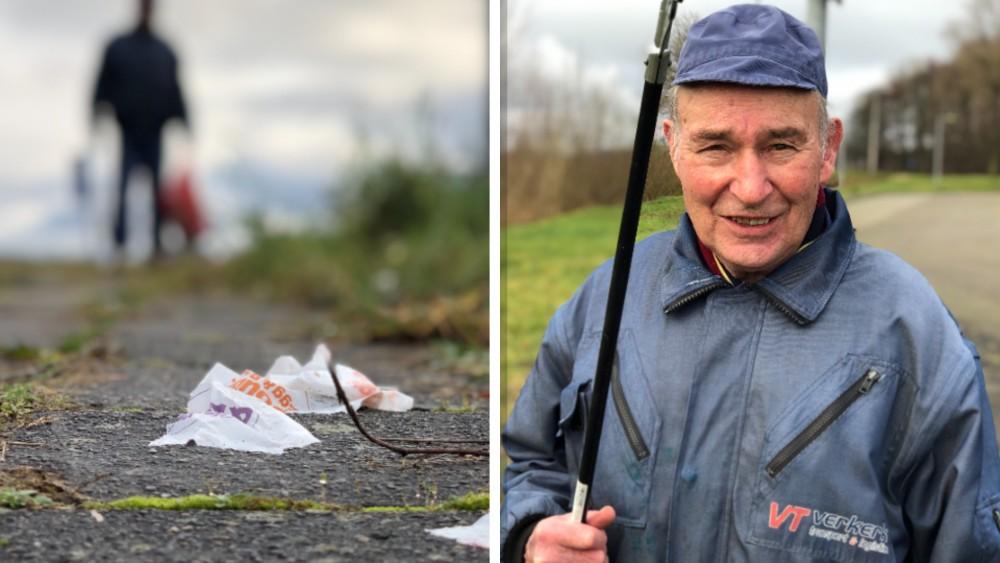 Jan (80) uit Muiden houdt niet van stilzitten tijdens lockdown en ruimt hele buurt op