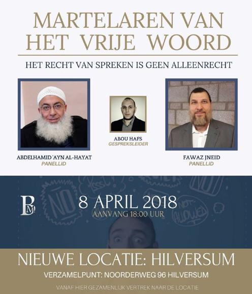 De aankondiging door BewustMoslim van de bijeenkomst