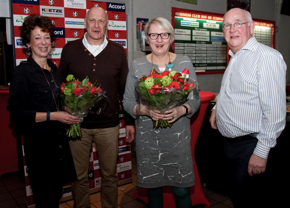 Vlnr: Marianne Tat, Stephen van Cleef, wethouder Marianne Verhage en Kees Visser (Foto: Sylvia Vrenegoor)