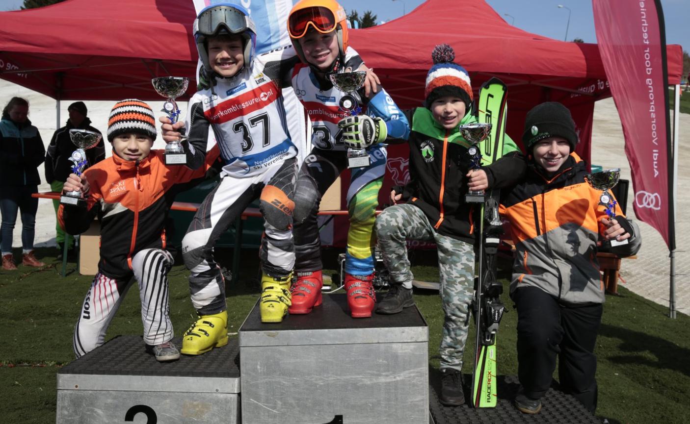 Enkele jonge medaillewinnaars