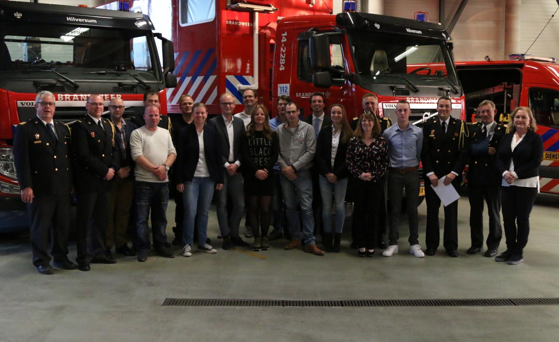 De nieuwe brandweerlieden (Foto: Bert de Bruin)